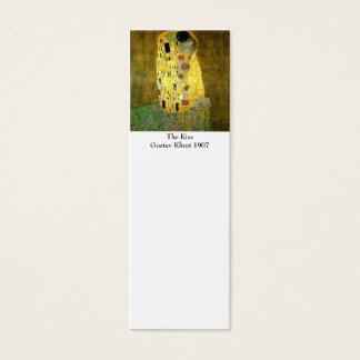 Cartão De Visitas Mini O beijo pelo marcador de Gustavo Klimt