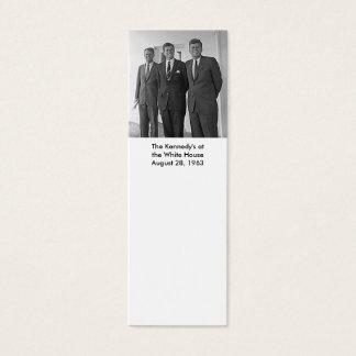 Cartão De Visitas Mini O Kennedy na casa branca, o 28 de agosto de 1963