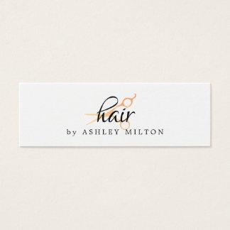 Cartão De Visitas Mini O ouro branco limpo elegante do falso Scissors o
