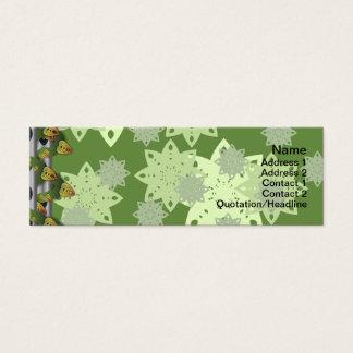 Cartão De Visitas Mini Os doces florescem grande