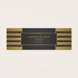 Cartão De Visitas Mini Ouro e listras pretas