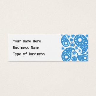 Cartão De Visitas Mini Paisley. azul