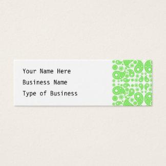 Cartão De Visitas Mini Paisley. verde