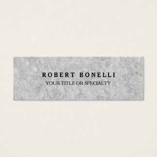 Cartão De Visitas Mini Parede cinzenta original profissional magro