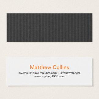 Cartão De Visitas Mini Pessoal elegante genérico da textura moderna