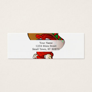 Cartão De Visitas Mini pimenta do mexicano dos desenhos animados