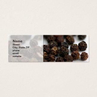 Cartão De Visitas Mini Pimenta preta