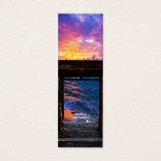 Cartão De Visitas Mini Por do sol na baía do paraíso
