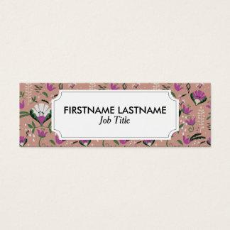 Cartão De Visitas Mini Povos cor-de-rosa da casa de campo florais