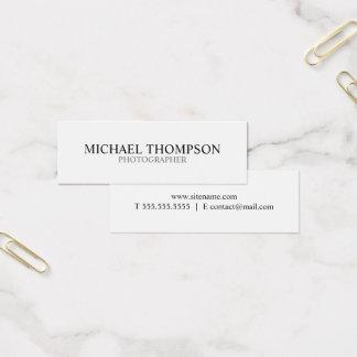 Cartão De Visitas Mini Preto e branco profissional