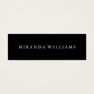 Cartão De Visitas Mini Preto elegante profissional minimalista