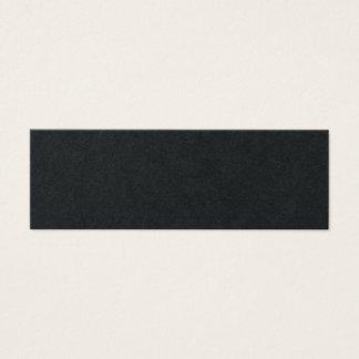 Cartão De Visitas Mini Preto superior moderno profissional liso na moda