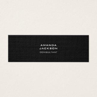 Cartão De Visitas Mini Profissional preto minimalista na moda liso