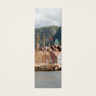 Cartão De Visitas Mini Sailingships no marcador de Bryggen