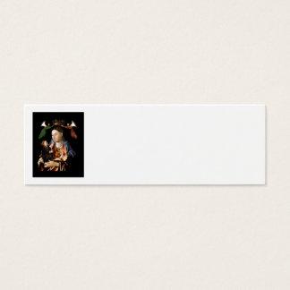 Cartão De Visitas Mini Salgando Madonna e a criança do cristo