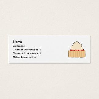 Cartão De Visitas Mini Scone. do doce e do creme