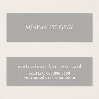 Cartão De Visitas Mini simples cinzento e elegante minimalistas