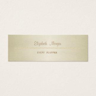 Cartão De Visitas Mini Simples minimalista profissional elegante