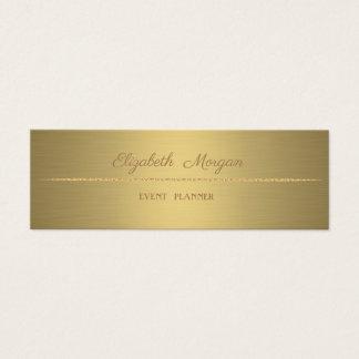 Cartão De Visitas Mini Simples minimalista profissional elegante, ouro do