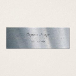 Cartão De Visitas Mini Simples minimalista profissional elegante, prata