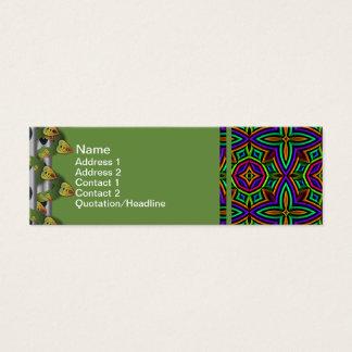Cartão De Visitas Mini Substituição floral colorida do teste padrão