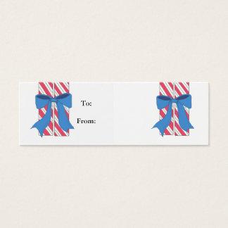 Cartão De Visitas Mini Tag do presente do bastão de doces