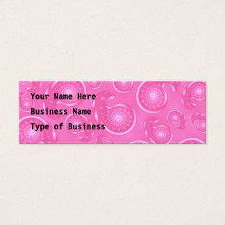 Cartão De Visitas Mini Teste padrão cor-de-rosa de Paisley