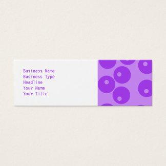 Cartão De Visitas Mini Teste padrão roxo retro dos círculos