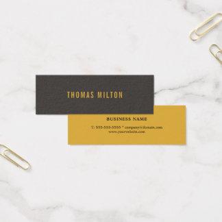 Cartão De Visitas Mini Trabalhos em rede amarelos cinzentos elegantes