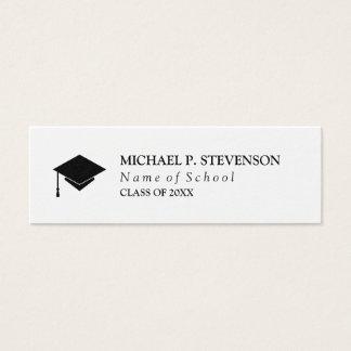 Cartão De Visitas Mini Trabalhos em rede pretos & brancos da graduação