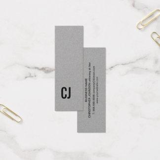 Cartão De Visitas Mini Trabalhos em rede pretos cinzentos elegantes