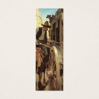 Cartão De Visitas Mini Vaqueiros do vintage, fora da lei admirável por NC