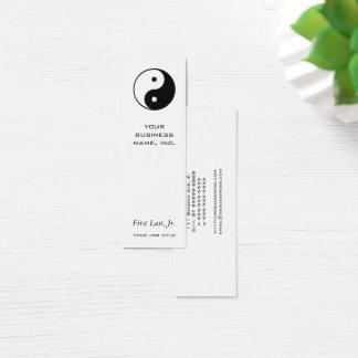 Cartão De Visitas Mini Yin Yang
