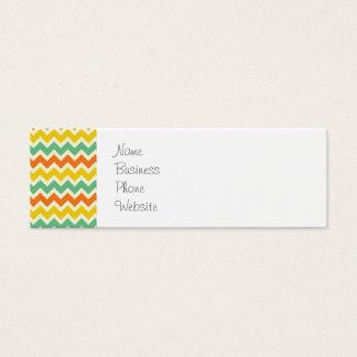 Cartão De Visitas Mini Ziguezagues de Chevron do amarelo alaranjado do