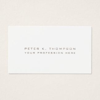 Cartão De Visitas minimalista