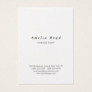 Cartão De Visitas Minimalista à moda profissional clássico do