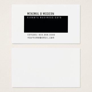Cartão De Visitas minimalista elegante mínimo & moderno