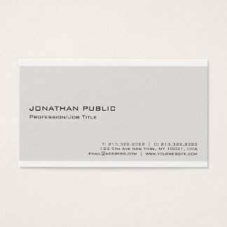 Cartão De Visitas Minimalista profissional branco bege elegante