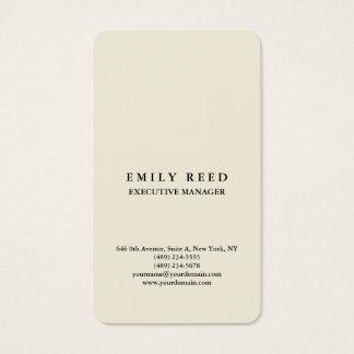 Cartão De Visitas Minimalista profissional clássico bege