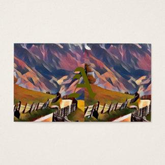 Cartão De Visitas moderno, dadaism, digital, pintura, colorida,