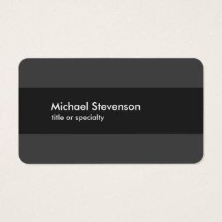 Cartão De Visitas Moderno listrado cinzento