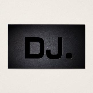 Cartão De Visitas Moderno preto legal do texto corajoso do DJ