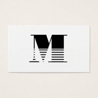 Cartão De Visitas Monograma