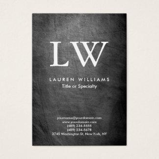 Cartão De Visitas Monograma cinzento moderno na moda do quadro