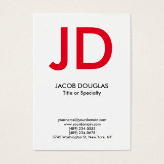 Cartão De Visitas Monograma corajoso cinzento branco moderno na moda