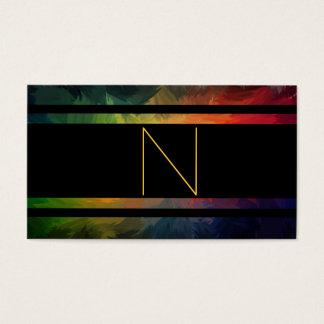 Cartão De Visitas Monograma do estilo