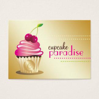 Cartão De Visitas Monograma do paraíso de 311 cupcakes
