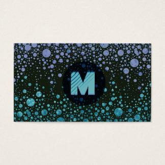 Cartão De Visitas Monograma moderno