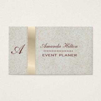 Cartão De Visitas Monograma moderno elegante profissional
