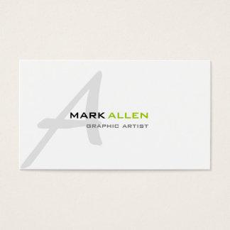 Cartão De Visitas Monograma moderno mínimo 2